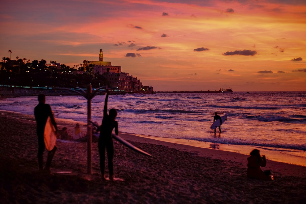 jaffa beach at tel aviv